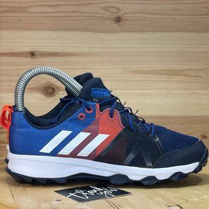 YTH Adidas Blue Red Lace Up Athletic Shoes US 2.5